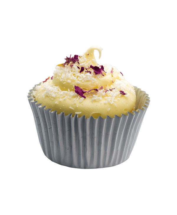 rose coconut cupcake