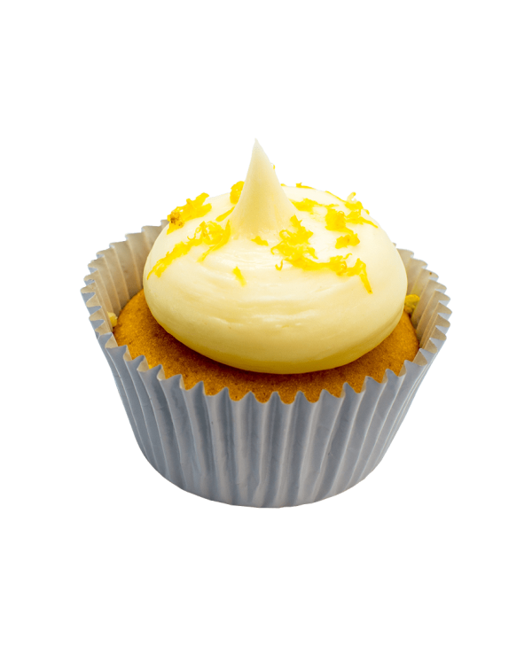 lemon rose cupcake