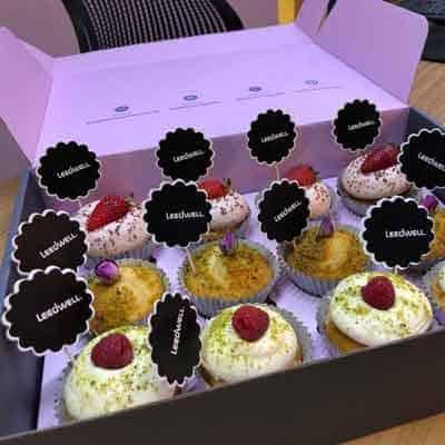 Azidelicious branded cupcakes
