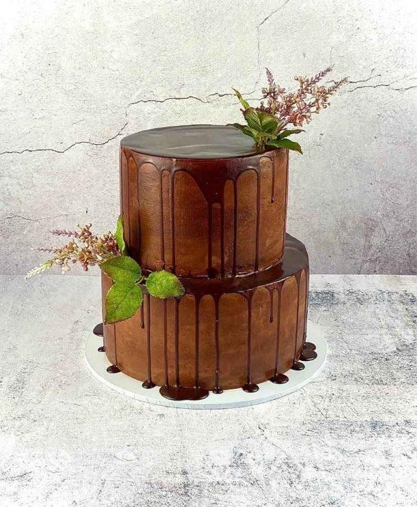 Two tier chocolate cake